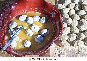 preparing ascolane olives at home