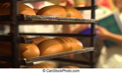preparing bread