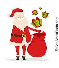 Preparing Christmas Presents with Santa Claus