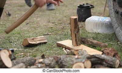 Preparing firewood