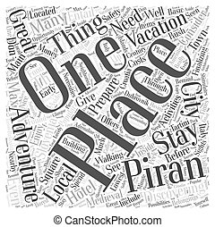 preparing for an adventure vacation in slovenia Word Cloud...