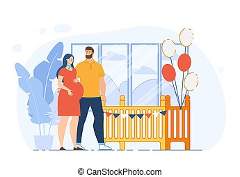 Preparing for Childbirth Flat Vector Concept