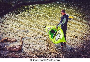 Preparing For Kayak Trip