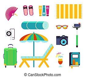 Preparing for summer beach holiday