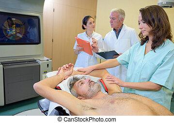 preparing for x-ray