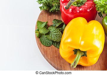 Preparing fresh vegetable to cook.