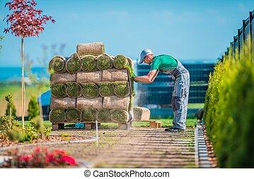 Preparing Grass Installation
