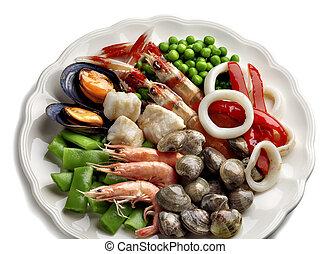 ingredients to make an spanish paella