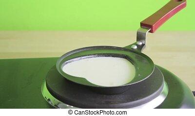 preparing pancakes