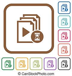 Preparing playlist simple icons