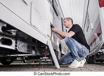 Preparing RV Travel Trailer
