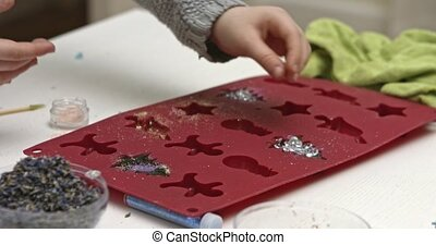 Preparing soap, animation for children - Process of making...