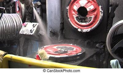 Preparing steering wheel mould