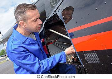preparing the chopper