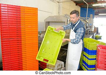 preparing the crates