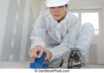 preparing the floor