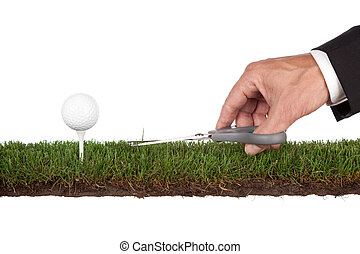 perfection - preparing the green. metaphor for service and ...