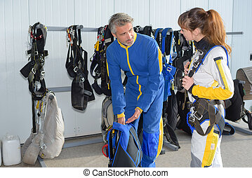 preparing the harness