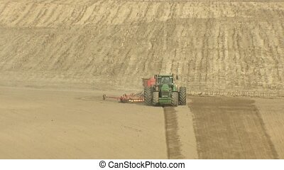 Preparing the land for planting the crop. Agricultural...