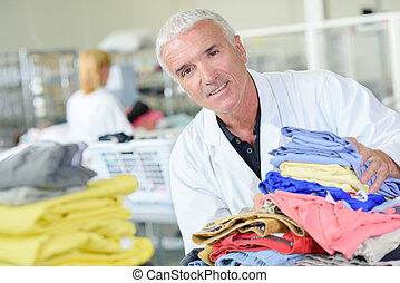 preparing the laundry