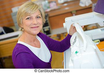 preparing the sewing machine