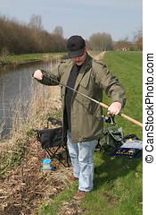 Preparing to fish