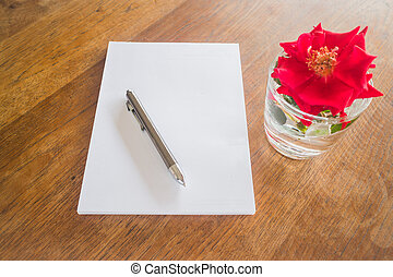 Preparing to write love letter, stock photo