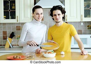 Preparing vegetarian food