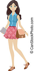 Preppy Student Girl