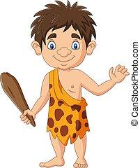 presa a terra, caveman, cartone animato, club