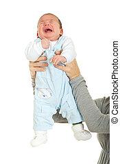 presa a terra, pianto, bambino neonato