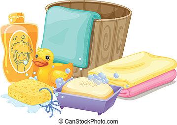 presa, bagno, needed, cose
