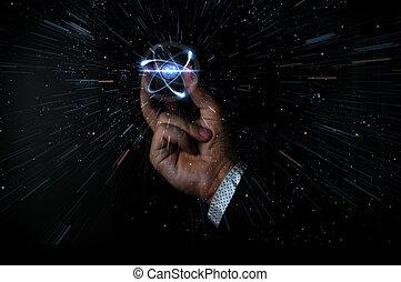 presa, particella, atomo