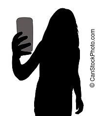 presa, silhouette, selfie