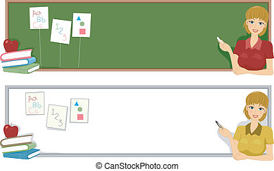 Preschool Banner - Banner Illustration with a Preschool ...