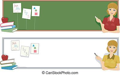 Preschool Banner - Banner Illustration with a Preschool...