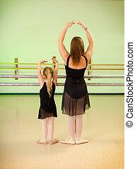 Preschool Child Dance Lesson in Studio