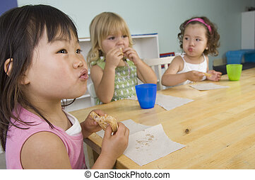 Preschool children - Children play and learn at the...