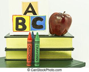 preschool, kleuterschool, en, elementair onderwijs