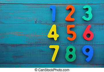 Preschool learn to count numbers in order from one to nine...