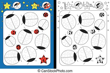 Preschool worksheet for practicing fine motor skills -...