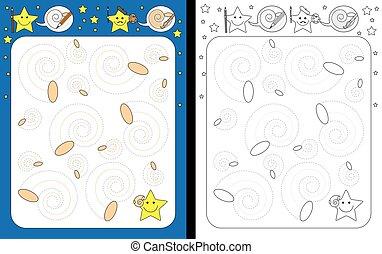 Preschool worksheet for practicing fine motor skills - ...