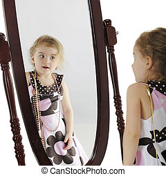 Preschooler in the Mirror