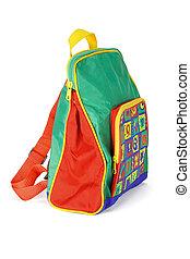 preschooler, mochila