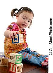 preschooler, norteamericano, japonés