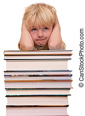 Preschooler - Portrait of a frustrated young preschool boy
