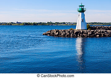 Prescott Heritage Harbour Lighthouse and Ogdensburg, Vermont...