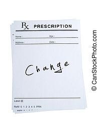 prescrição, mudança