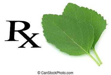 Prescribed tulsi leaf as herbal medicine