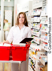 prescripción, farmacéutico, tableta, digital